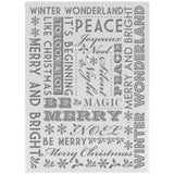 Ultimate Crafts Alot Like Christmas - Winter Wonderland Embossing Folder
