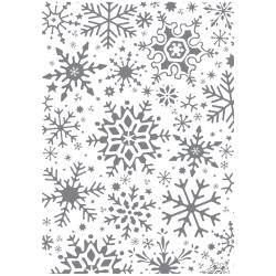 Ultimate Crafts Alot Like Christmas - Fractal Snowflakes Background Stamp WH