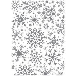 Ultimate Crafts Alot Like Christmas - Fractal Snowflakes Background Stamp WH | Ultimate Crafts