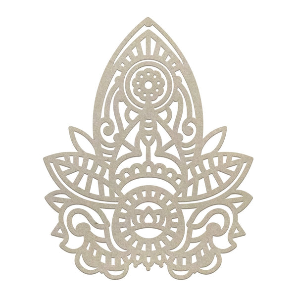 Ultimate Crafts - Henna Motif Chipboard (1pc) (60 x 45mm | 2.3 x 1.7in) WH