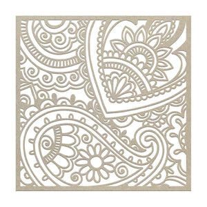 Chipboard - BB - Paisley Background (1pc)