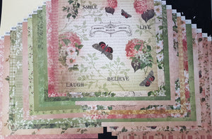 Limited Edition 12 x 12 Kit - Vintage Rose Garden 22 double sided pages