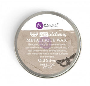 Prima - Art Alchemy Metallique Wax (20ml) - Old Silver