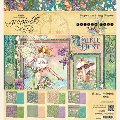 Graphic 45 - Fairie Dust Paper Pad 8x8