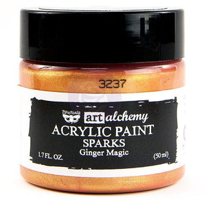 Prima - Art Alchemy Sparks Acrylic Paint (50ml) - Ginger Magic