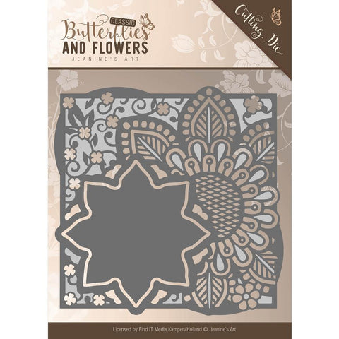 Find It Trading Jeanine's Art Cutting Die - Butterflies and Flowers Flowers Frame