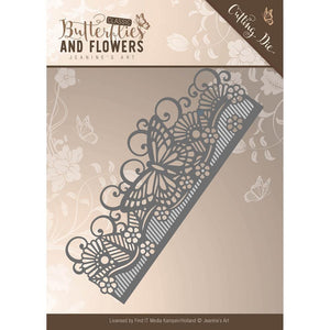 Find It Trading Jeanine's Art Cutting Die - Butterflies and Flowers Butterfly Border