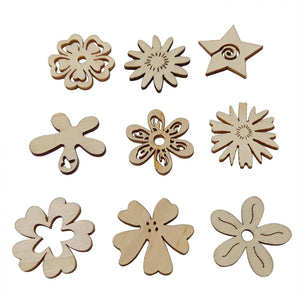 Wooden DieCuts - Flower Slices (50 pc)