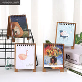 2019 Mini Desktop Notebook Calendar