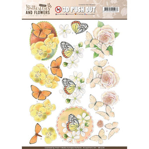 Find It Trading Jeanine's Art 3D Push Out - Butterflies and Flowers Lovely Butterflies