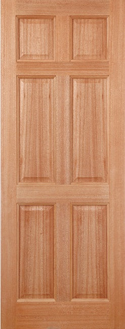 LPD External Hardwood Colonial 6 Panel Door M&T