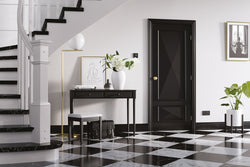 LPD Internal Knightsbridge 2 Panel Black Fire Door