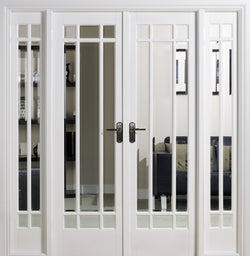 LPD Internal White Manhattan Room Divider Set-Door Store Rotherham