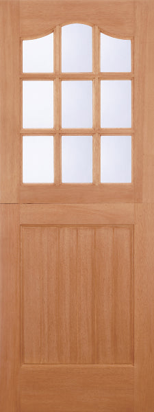 LPD Stable 9 Light Mortice & Tenon Hardwood External Double Glazed with Clear Glass