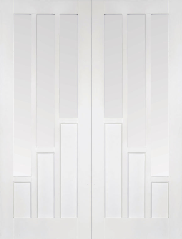 LPD Internal White Coventry Glazed Rebated Door Pairs