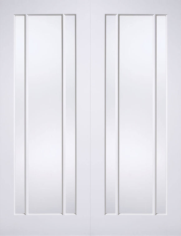 LPD Internal Lincoln Glazed Rebated Door Pairs White