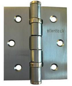 "Atlantic Handles 3"" x 2.5"" x 2.5mm Ball Bearing Pair of Hinges in a Polished Chrome Finish-Door Store Rotherham"