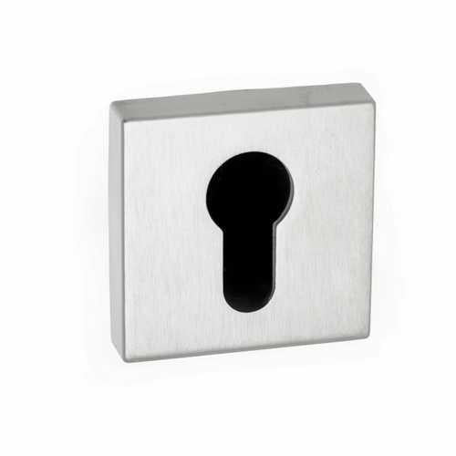 Atlantic Handles Forme Euro Escutcheon on Minimal Square Rose in a Polished Chrome Finish-Door Store Rotherham