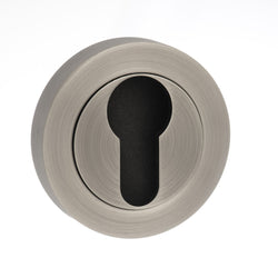 Atlantic Handles Old English Euro Escutcheon in a Matt Gun Metal Finish-Door Store Rotherham