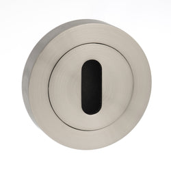Atlantic Handles Round Rose Key Escutcheon in a Satin Nickel Finish-Door Store Rotherham
