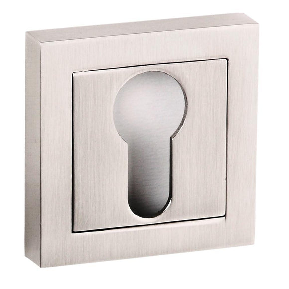 Atlantic Handles Senza Pari Key Escutcheon to Suit Square Rose in a Satin Nickel Finish-Door Store Rotherham