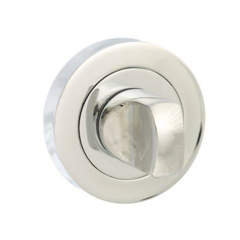 Atlantic Handles Senza Pari WC Turn and Release to Suit Flush Rose in a Polished Chrome Finish-Door Store Rotherham