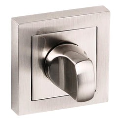 Atlantic Handles Senza Pari WC Turn and Release to Suit Square Rose in a Satin Nickel Finish-Door Store Rotherham