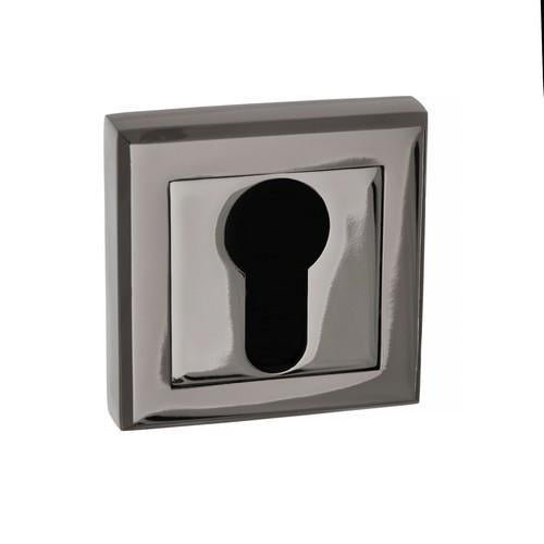 Atlantic Handles Status Square Rose Euro Escutcheon in a Black Nickel Finish-Door Store Rotherham