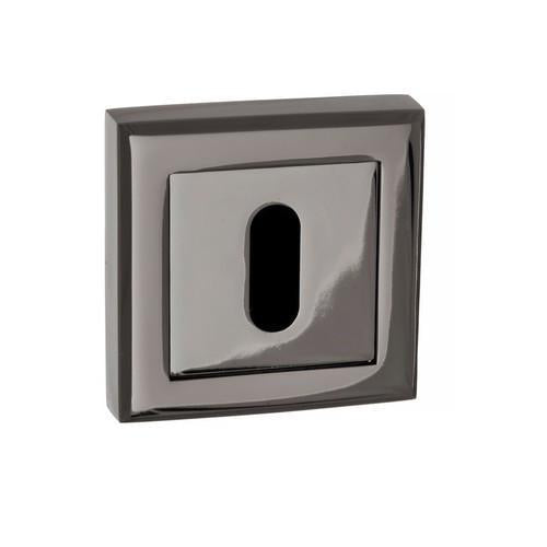 Atlantic Handles Status Square Rose Key Escutcheon in a Black Nickel Finish-Door Store Rotherham