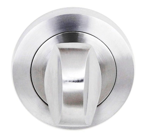 Atlantic Handles Status WC Turn and Release on Round Rose in a Satin Chrome Finish-Door Store Rotherham