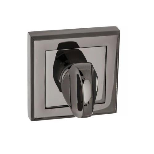 Atlantic Handles Status WC Turn on Round Rose in a Black Nickel Finish-Door Store Rotherham