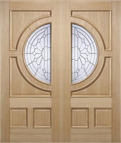 Door Store External Empress Oak IG Zinc Double Entrance Door-Door Store Rotherham