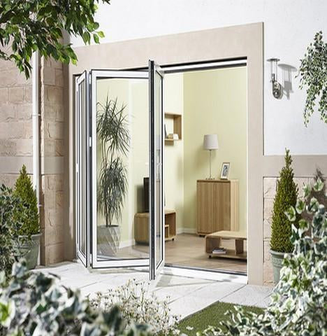LPD External 2.4m ALUVU (8ft) Aluminium Bi-Fold Door Set in a White Finish (Left Hand Opening)-Door Store Rotherham