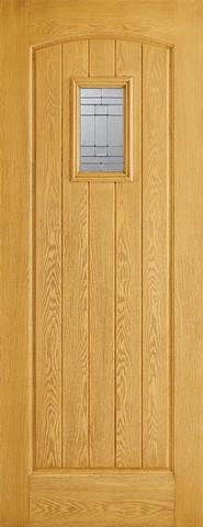 LPD External GRP Oak Cottage Glazed Door-Door Store Rotherham