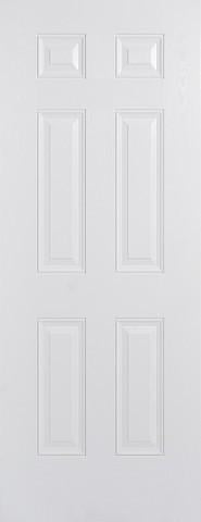 LPD External GRP White Colonial 6 Panel Door-Door Store Rotherham