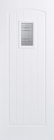 LPD External GRP White Cottage Glazed Door-Door Store Rotherham