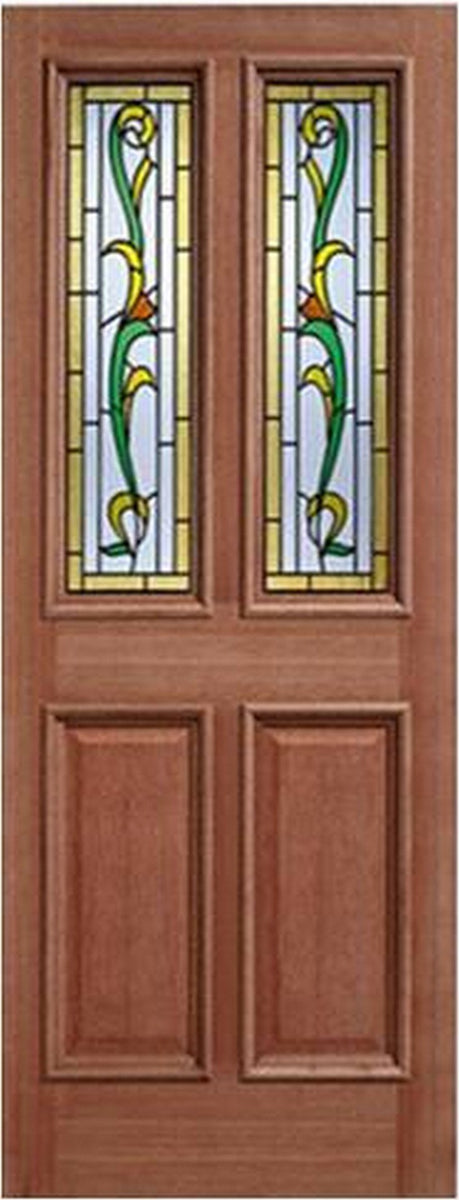 LPD External Mortice & Tenon Chelsea Tulip 6 Light Glazed Hardwood Door-Door Store Rotherham