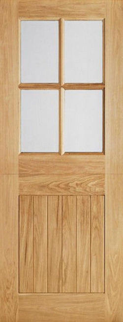LPD External Oak 4 Light Glazed Stable Cottage Style Door-Door Store Rotherham