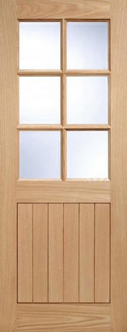 LPD External Oak 6 Light Glazed Cottage Style Door-Door Store Rotherham