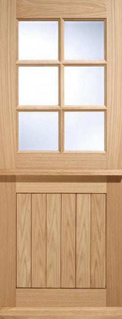LPD External Oak 6 Light Glazed Stable Cottage Style Door-Door Store Rotherham