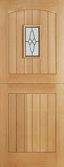 LPD External Oak Cottage Stable I.G Lead Glazed Door-Door Store Rotherham