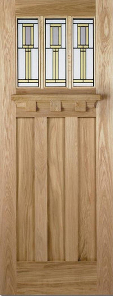 LPD External Oak Tuscany with Florence Glass Pack Door-Door Store Rotherham
