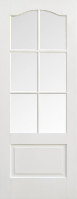 LPD Internal Kent 6 Light Clear Bevelled Glass White Prime Plus Door-Door Store Rotherham