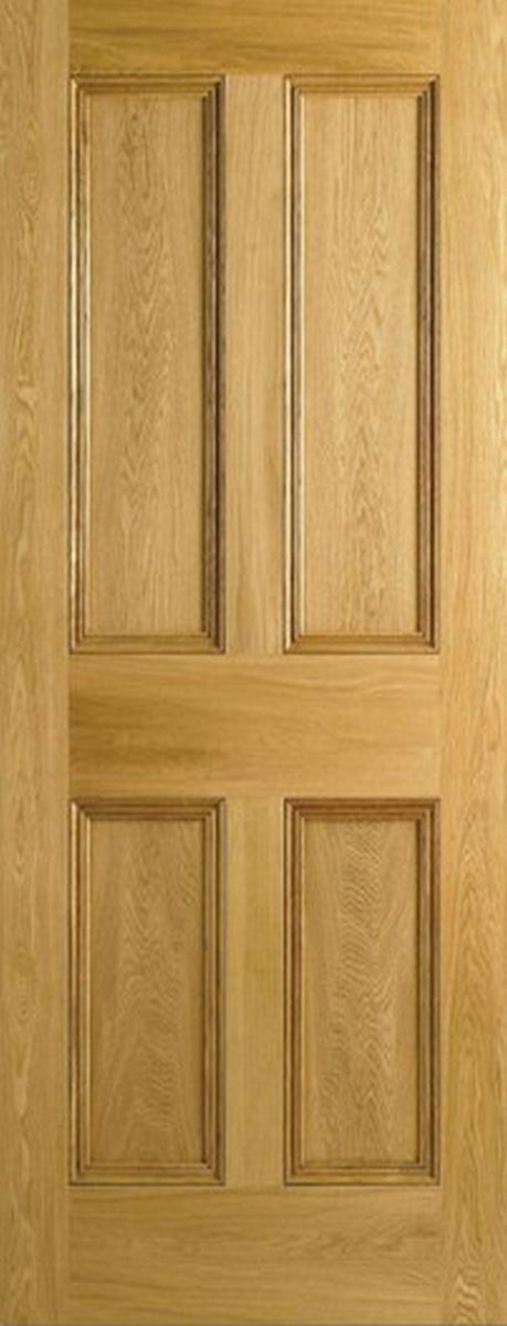 LPD Internal Oak 4 Panel Flat Panel Fire Door-Door Store Rotherham