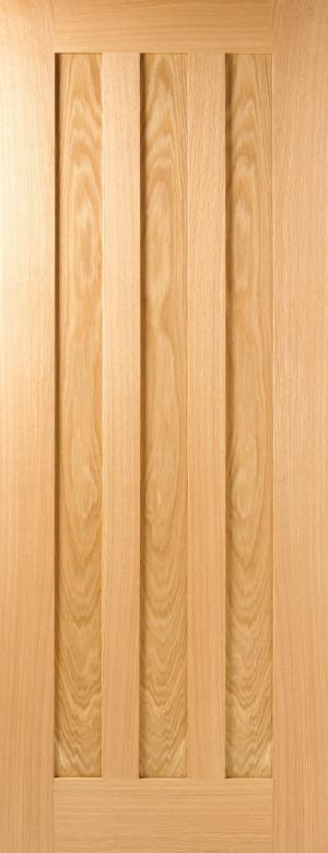 LPD Internal Oak Idaho 3 Panel Pre-Finished Door-Door Store Rotherham