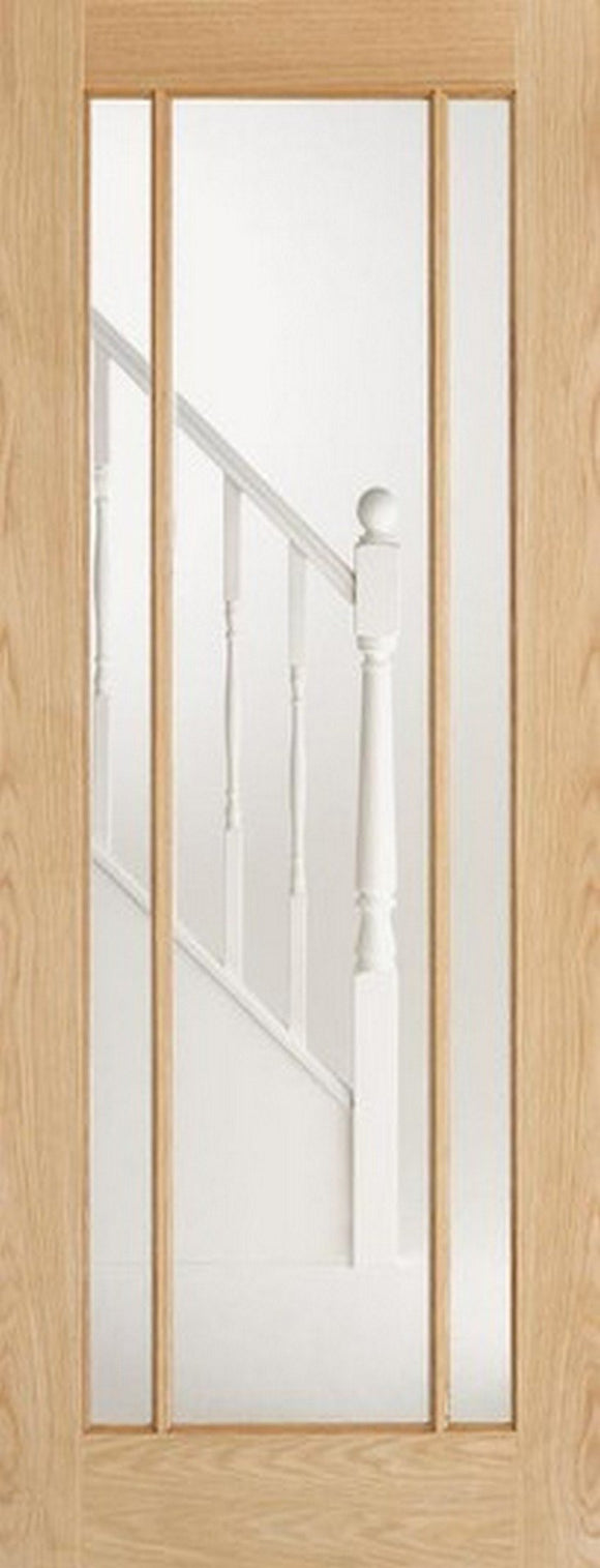 LPD Internal Oak Lincoln 3 Panel Glazed Door-Door Store Rotherham
