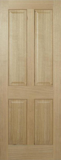 LPD Internal Oak Regency 4 Panel Pre-Finished Non-Raised Mouldings Door-Door Store Rotherham
