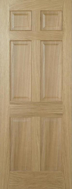 LPD Internal Oak Regency 6 Panel Pre-Finished Non-Raised Mouldings Door-Door Store Rotherham
