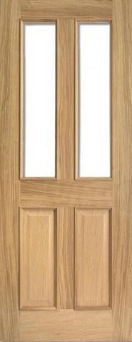 LPD Internal Oak Richmond Raised Mouldings with Clear Bevelled Glass Door-Door Store Rotherham