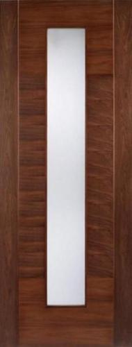 LPD Internal Walnut Aragon Glazed Door-Door Store Rotherham